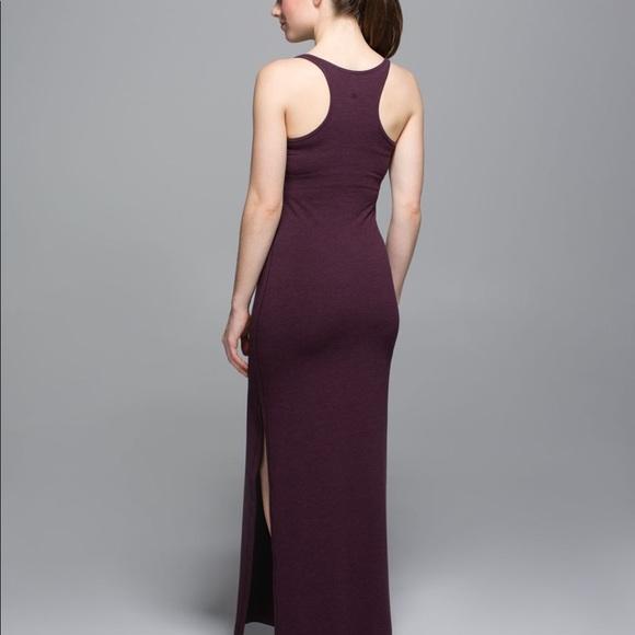 Lululemon refresh maxi burgundy dress.